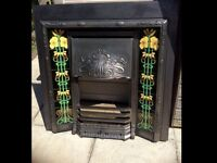 Stovax cast iron and tiled Victorian style fireplace