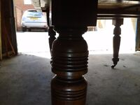 antique (Victorian) dining table,mahogany,extendable, wobbly but it is a real antique