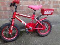 12' Boy Red Rescue Bike