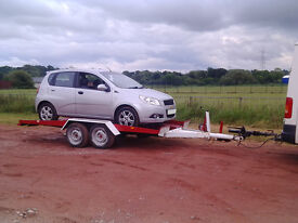 Karo car/van Trailer twin axle tilt 2500kg poss swap for car/motorbike
