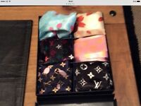 Set of six Louis Vuitton scarves