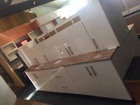 White Gloss Kitchen Units & 1 Worktop