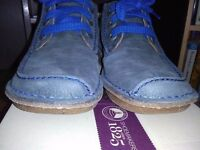 CLARK'S NEW SUEDE , LACE UP SHOES, WITH SLIGHT WEDGE, SIZE 39 WIDE FIT D