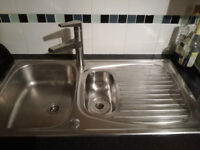 Stainless steel 1.5 bowl sink