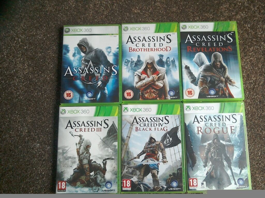 Assassins Creed Bundlein Penicuik, MidlothianGumtree - Assassins Creed Bundle for XBOX 360. Used but in great, working condition Six games Assassins Creed Assassins Creed Brotherhood Assassins Creed Revelations Assassins Creed Creed III Assassins Creed Black Flag Assassins Creed Rogue £15 Thanks