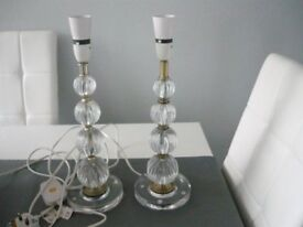 2 X GLASS EFFECT SIDE LAMPS