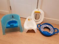 Potty for different stages of growing up. £2 each or £5 for four.