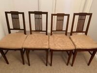 Four Vintage Dining chairs