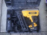 Dewalt second fix finishing nail gun.