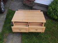 Wooden Coffee table with 4 drawers