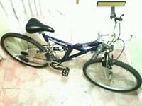 Lads, mens, Olympus full suspension mountain bike, like new