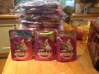 Whiskas cat food pouches