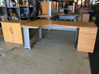 Office Furniture for sale, desks, drawers, cupboards, screens and monitor brackets