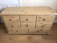 Pine chest of drawers in good condition...very solid piece of furniture