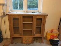 Solid Oak dresser - which can be separated into two parts