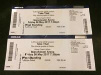 2 X Standing Take That Tickets Manchester