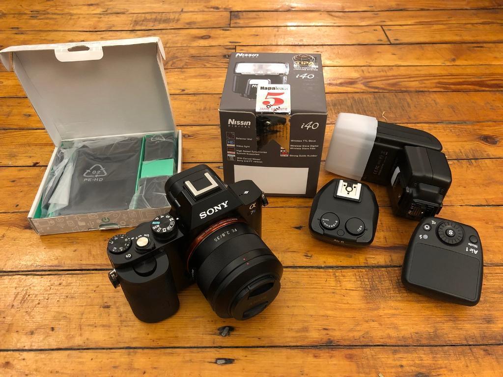 Sony A7S + Zeiss 35mm f2 8 + Nissin i40 flash + Air commander wireless kit  + batteries   in Stoke Newington, London   Gumtree
