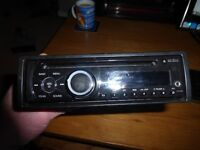 clarion cz100e car cd player radio with aux plug hole