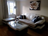 Leather Sofa+koffee table + chair!!!