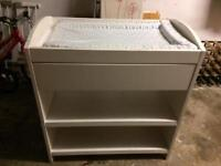 Mothercare white baby changing table