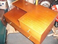 1960/1970 Dressing Table with Mirror (needs TLC) Strong and Sturdy