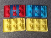 Silicone baking moulds. 2 pack. Bunny shape, Peter rabbit. BRAND NEW