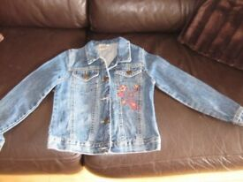 DENIM JACKET age 7-8 Cut off style (to the waist) great condition - cheap price REDUCED TODAY TO £3