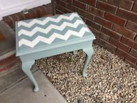Hand painted vintage piano stool - seat - chair