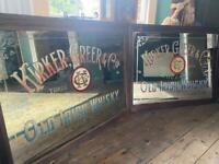 WANTED!! Antique pub mirrors antique advertising signs show cards pub memorabilia