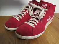 PUMA RED SUEDE HIGHTOP TRAINERS - SIZE 8.5