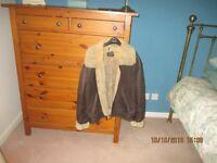 ladies leather and sheepskin flying jacket