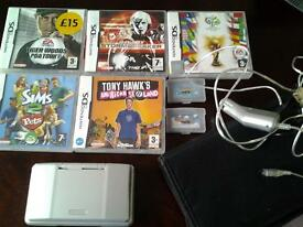 Nintendo DS NTR-001 silver and 7 games