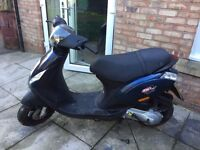 PIAGGIO ZIP 50CC MOPED FOR SALE. ONE OWNER. 4574 MILES