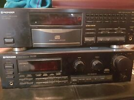 Pioneer compact disc play and stereo receiver with speakers