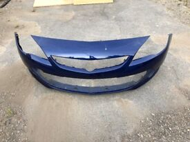 Vauxhall Astra J GTC Blue Buzz Front Bumper Used, Good Condition