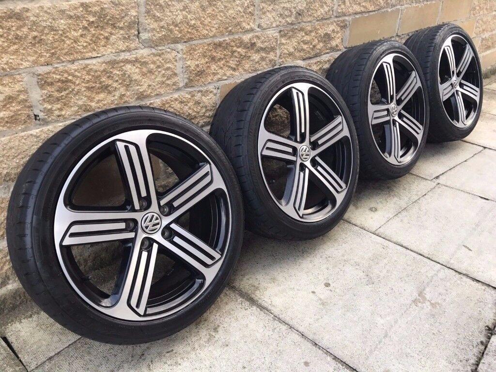 "2015 VW GOLF R MK7 - 18"" GENUINE CADIZ ALLOY WHEELS & BRIDGESTONE POTENZA TYRES"