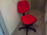 Red and Black Office Swivel Chair.