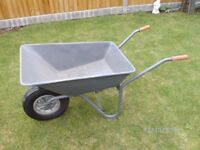 Useful General-purpose Wheelbarrow, Galvanized and Rustproofed.