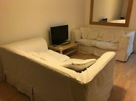 2 x 2 seater sofas with removable covers - FREE!!!