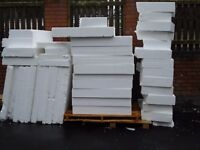 Polystyrene/Insulation Approx 1m x 1m x 55m or 100mm or 150mm depths. From £2.25
