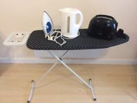 Iron & Iron Board, Iron Board Cover, Kettle & Toaster (Everything in excellent conditions)