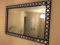 Large diamanté mirror