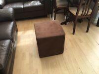 Chocolate suede footstool - very handy item!!!