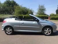 Peugeot 206 CC Convertible 2005 1.6 16v Allure 2dr remote central locking all...
