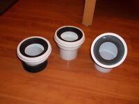 Toilet waste connectors