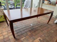 Beautiful elegant Mahoot Teak dining table ....great condition