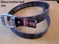Leather Diesel Belt