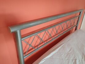 King size bed frame in good condition, with mattress