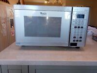 Whirlpool UKM128 microwave oven 700w D - metallic silver grey