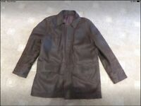 Brown suede jacket in size large